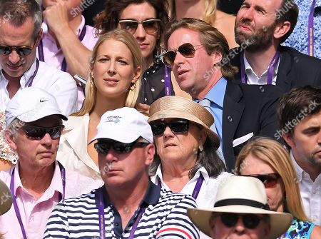 Thomas Kingston and Lady Gabriella Windsor on Centre Court