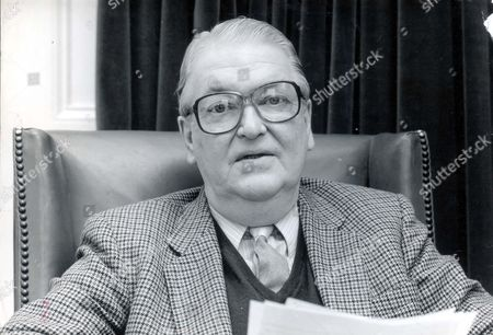 Kingsley Amis. 1990 Leading Author Sir Kingsley Amis At Home In London.
