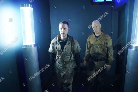 Iain De Caestecker as Leo Fitz and Joel Stoffer as Enoch