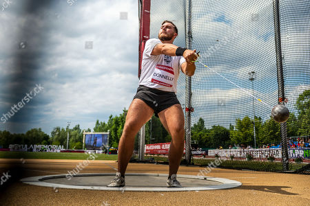 US Sean Donnelly competes in the men's hammer throw event during the Gyulai Istvan Memorial Track and Field Athletics Grand Prix in Szekesfehervar, Hungary, 09 July 2019.