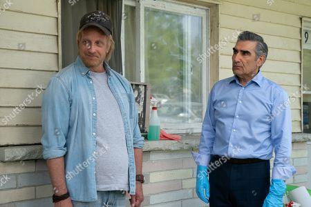 Stock Picture of Chris Elliott as Roland Schitt and Eugene Levy as Johnny Rose