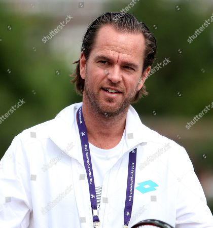Stock Photo of Former Belgian player Xavier Malisse (BEL) pictured during a training session at Aorangi Park in London