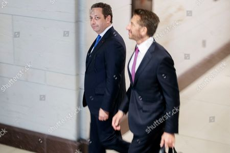 Stock Picture of Former business associate of President Donald J. Trump, Felix Sater (L), with his attorney Robert Wolf (R), arrives to testify before the House Intelligence Committee In the US Capitol in Washington, DC, USA, 09 July 2019. Sater was the chief negotiator on the Trump Tower Moscow project.