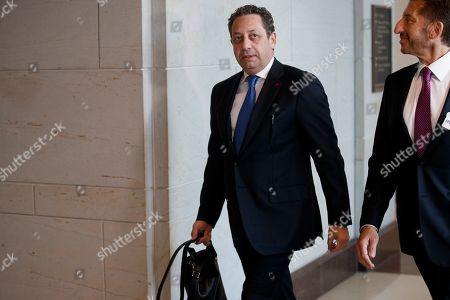 Stock Photo of Former business associate of President Donald J. Trump, Felix Sater (L), with his attorney Robert Wolf (R), arrives to testify before the House Intelligence Committee In the US Capitol in Washington, DC, USA, 09 July 2019. Sater was the chief negotiator on the Trump Tower Moscow project.