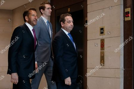 Former business associate of President Donald J. Trump, Felix Sater (R), with his attorney Robert Wolf (L), arrives to testify before the House Intelligence Committee In the US Capitol in Washington, DC, USA, 09 July 2019. Sater was the chief negotiator on the Trump Tower Moscow project.