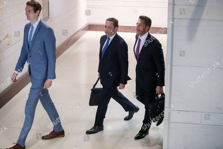 Former business associate of President Donald J. Trump, Felix Sater (C), with his attorney Robert Wolf (R), arrives to testify before the House Intelligence Committee In the US Capitol in Washington, DC, USA, 09 July 2019. Sater was the chief negotiator on the Trump Tower Moscow project.