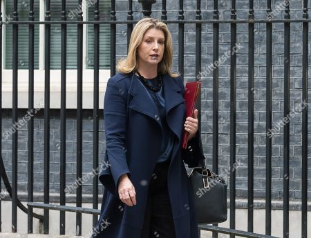 Secretary of State for Defence and Minister for Women and Equalities Penny Mordaunt leaves 10 Downing Street in London after the weekly Cabinet meeting.