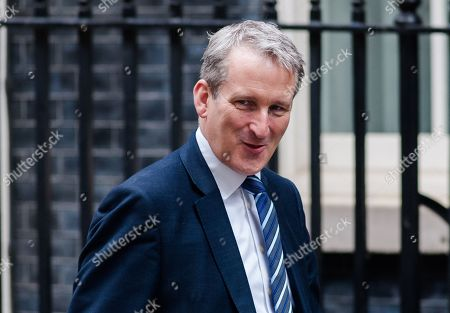 Secretary of State for Education Damian Hinds arrives for the weekly Cabinet meeting at 10 Downing Street in London.