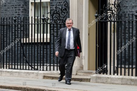 Secretary of State for Scotland David Mundell leaves 10 Downing Street in London after the weekly Cabinet meeting.