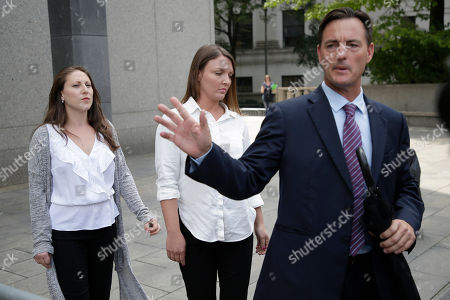 Stock Picture of Courtney Wild, Michelle Licata. Lawyer Brad Edwards, right, leaves federal court with his clients Michelle Licata, left, and Courtney Wild, center, after wealthy financier Jeffrey Epstein appeared for his arraignment in New York. Licata and Wild, two of Epstein's accusers, say they feel empowered after he was charged with sex trafficking and conspiracy charges. Epstein pleaded not guilty to the charges and will remain jailed until at least July 15 when a bail hearing is set on the case