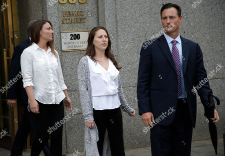 Courtney Wild, Michelle Licata. Lawyer Brad Edwards, right, leaves federal court with his clients Michelle Licata, center, and Courtney Wild, left, after wealthy financier Jeffrey Epstein appeared for his arraignment in New York. Licata and Wild, two of Epstein's accusers, say they feel empowered after he was charged with sex trafficking and conspiracy charges. Epstein pleaded not guilty to the charges and will remain jailed until at least July 15 when a bail hearing is set on the case