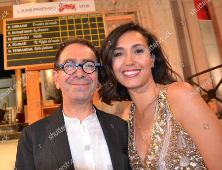 Caterina Balivo and Pino Strabioli