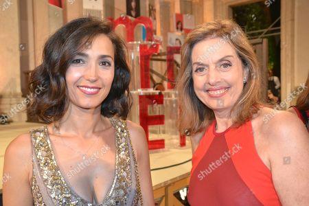 Caterina Balivo with Antonella Boralevi