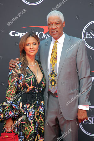 Stock Photo of Dorys Madden and Julius Erving