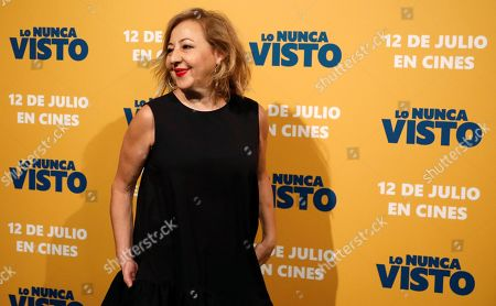 Stock Photo of Carmen Machi poses for the photographers during the premiere of the film 'The never seen' in Madrid, Spain, 09 July 2019.