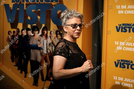 Kiti Manver poses for the photographers during the premiere of the film 'The never seen' in Madrid, Spain, 09 July 2019.