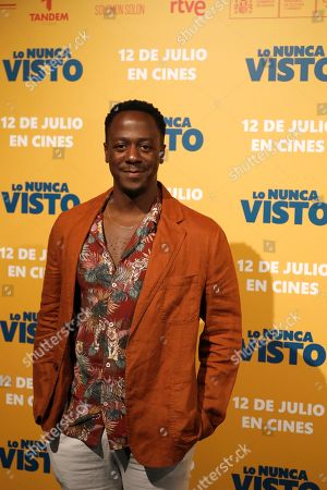 Stock Photo of Jimmy Castro poses for the photographers during the premiere of the film 'The never seen' in Madrid, Spain, 09 July 2019.