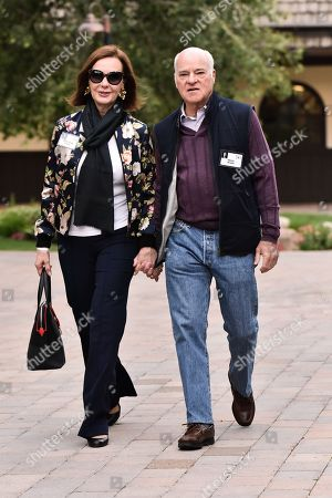 Stock Picture of Marie-Josee Kravis and Henry Kravis
