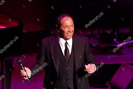 Paul Anka performs during a reception held by the US Embassy to celebrate the 243rd anniversary of Independence Day in the Budapest Congress Center in Budapest, Hungary, 09 July 2019.
