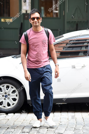 Editorial image of Aziz Ansari out and about, New York, USA - 09 Jul 2019