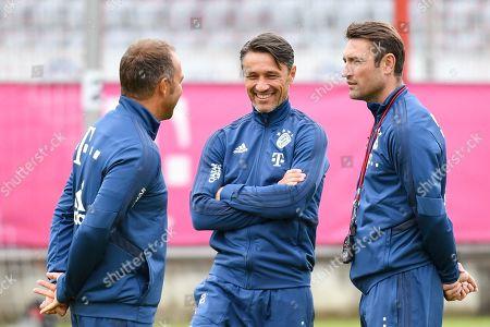 Co-Trainer Hans-Dieter Flick (FC Bayern Muenchen), Chef-Trainer Nico Kovac (FC Bayern Muenchen), Co-Trainer Robert Kovac (FC Bayern Muenchen), Training FC Bayern Muenchen, Football, 1.Bundesliga, 08.07.2019