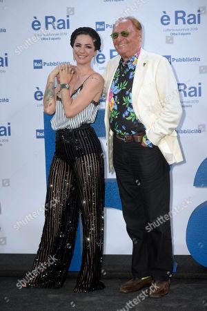 Andrea Delogu and Renzo Arbore