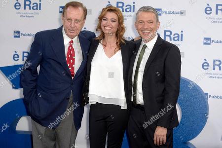 Stock Image of Michele Mirabella, Carlotta Mantovan and Pier Luigi Spada