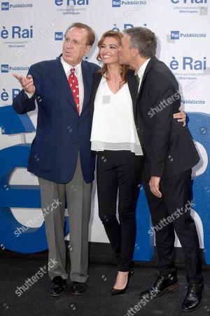 Stock Picture of Michele Mirabella, Carlotta Mantovan and Pier Luigi Spada
