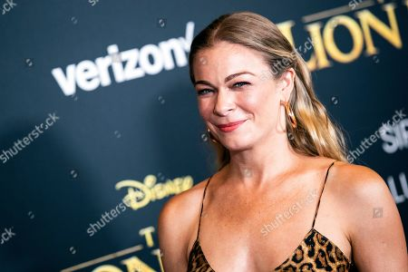 LeAnn Rimes poses on the red carpet prior to the world premiere of 'The Lion King' at the Dolby Theater in Hollywood, California, USA, 09 July 2019. The film will be released in US theaters on 19 July.