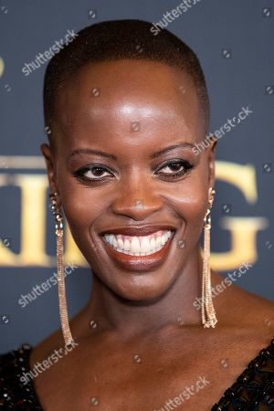Florence Kasumba poses on the red carpet prior to the world premiere of 'The Lion King' at the Dolby Theater in Hollywood, California, USA, 09 July 2019. The film will be released in US theaters on 19 July.