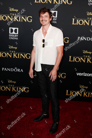 Pedro Pascal poses on the red carpet prior to the world premiere of 'The Lion King' at the Dolby Theater in Hollywood, California, USA, 09 July 2019. The film will be released in US theaters on 19 July.
