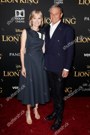 US journalist Willow Bay (L) and The Walt Disney Company Chairman and CEO Bob Iger (R) pose on the red carpet prior to the world premiere of 'The Lion King' at the Dolby Theater in Hollywood, California, USA, 09 July 2019. The film will be released in US theaters on 19 July.