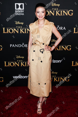 Stock Photo of Raline Shah poses on the red carpet prior to the world premiere of 'The Lion King' at the Dolby Theater in Hollywood, California, USA, 09 July 2019. The film will be released in US theaters on 19 July.