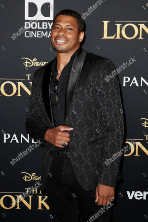 Chester Gregory poses on the red carpet prior to the world premiere of 'The Lion King' at the Dolby Theater in Hollywood, California, USA, 09 July 2019. The film will be released in US theaters on 19 July.