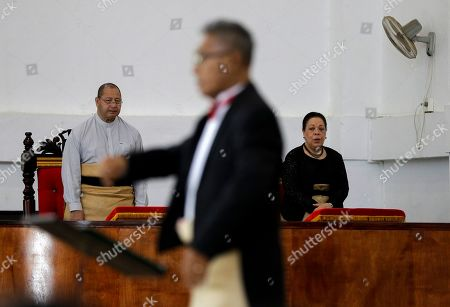 Tonga King Tupou VI, left, and Queen Nanasipau?u Tuku?aho, right, attend a mass at the Free Wesleyan Church in Nuku'alofa, Tonga. China is pouring billions of dollars in aid and low-interest loans into the South Pacific, and even in the far-flung kingdom of Tonga there are signs that a battle for power and influence among much larger nations is heating up and could exact a toll