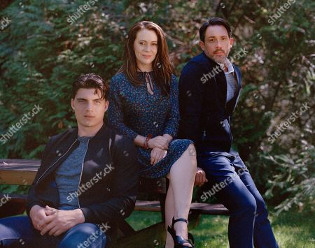 Zane Holtz as Matt, Alyssa Milano as Gabby and Steve Kazee as Elliott