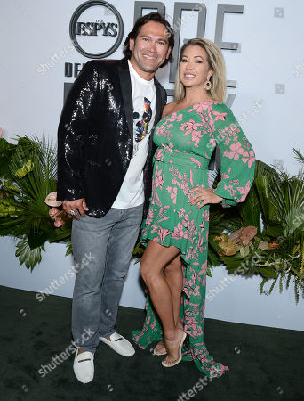 Stock Image of Johnny Damon and wife Michelle Mangan