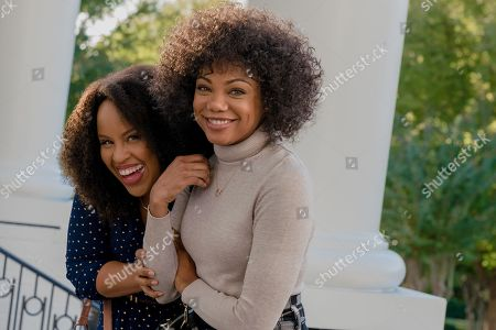 Stock Photo of Kellee Stewart as Charlotte and Tiffany Hines as Elizabeth 'Lizzie' Bennet