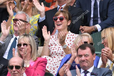 Fiona Bruce in the Royal Box on Centre Court
