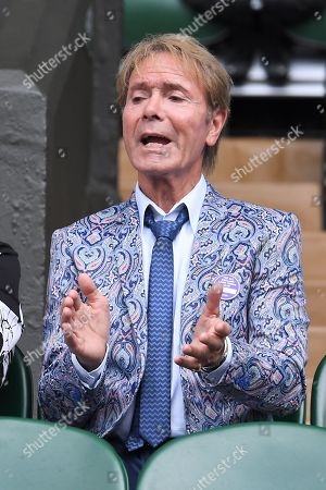Sir Cliff Richard in the Royal Box on Centre Court
