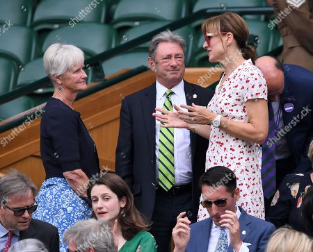 Alan Titchmarsh and Fiona Bruce in the Royal Box on Centre Court