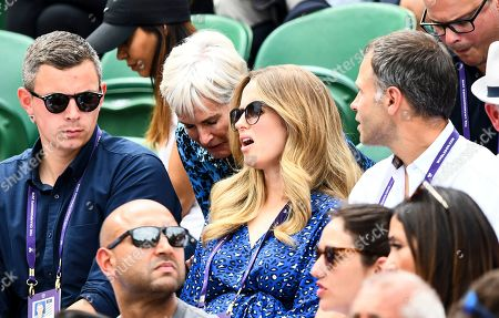 Kim Sears and Judy Murray in the players box on Court 2
