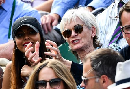 Judy Murray in the players box on Court 2