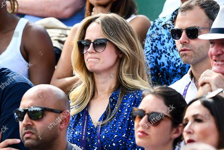 Stock Picture of Kim Sears in the players box on Court 2