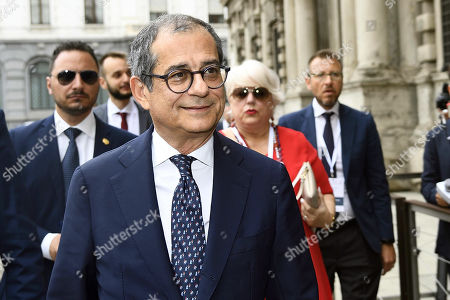 Italian Minister of Economy and Finance Giovanni Tria attends the Italy-China Financial Forum 2019, in Milan, Italy, 10 July 2019.