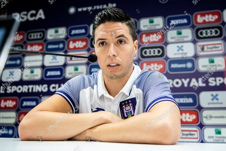 Samir Nasri during the press conference