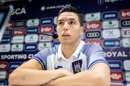 Stock Photo of Samir Nasri during the press conference