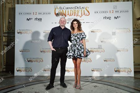 Stock Picture of Argentinian film director Juan Jose Campanella (L) and Spanish actress/cast member Clara Lago pose for the photographers during the presentation of 'El Cuento de las Comadrejas' (The Weasel's Tale) in Madrid, Spain, 10 July 2019. The movie opens in Spanish theaters on 12 July.