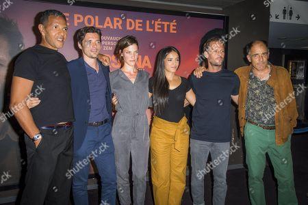 Roschdy Zem, Raphael Personnaz, Sarah Pasquier, Hafsia Hersi, Raphael Personnaz, Nicolas Duvauchelle and Frederic Pierrot