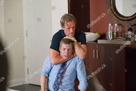 Tim Griffin as Frank Lambert and Hugh Laurie as Eldon Chance